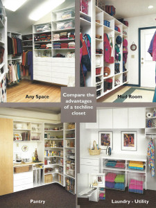 Techline Different Closet Systems