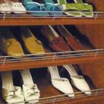 Techline Systems Slanted Shoe Shelves